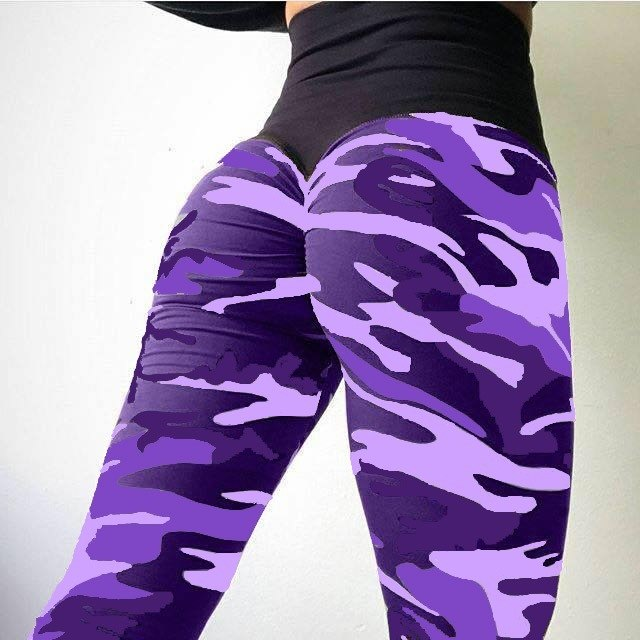 Fashion Women Camouflage Pant High Waist Hip Hop Camo Pant Girls Military Pant Jogger Dance Pant Fitness Sporting Leggings-geekbuyig