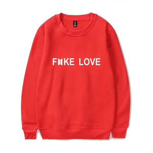 2018 BTS Harajuku Fashion Hoodies women Kpop Fake Love Clothes Pullovers Casual Long Sleeve Sweatshirt Oversized Sweatshirt Top-geekbuyig