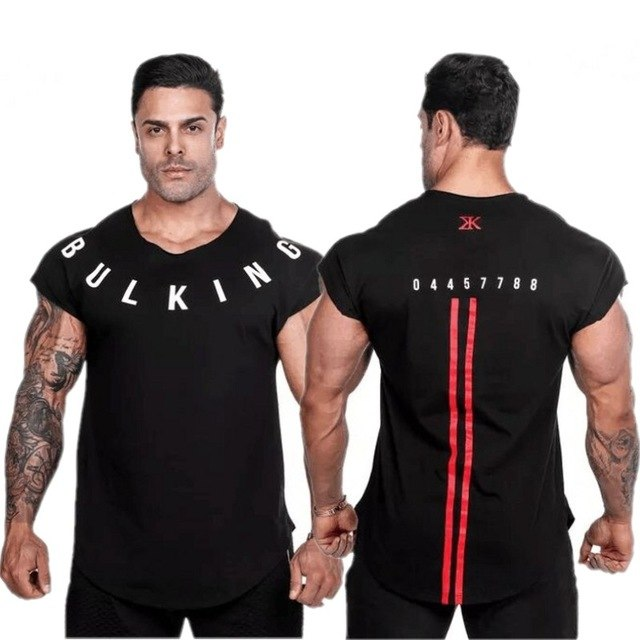 2018 New Brand clothing Gyms Tight t-shirt mens fitness t-shirt homme Gyms t shirt men fitness Summer tops-geekbuyig
