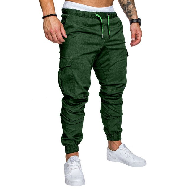 2018 casual Men pants slim men's trousers-geekbuyig