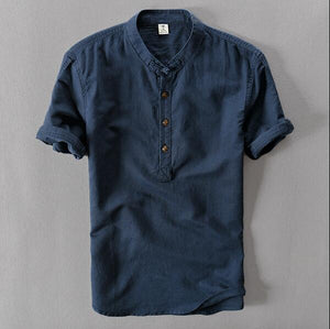 2018 summer men's short sleeved shirts breathes Cool shirts-geekbuyig