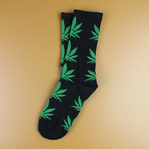 Newest Fashion Spring Maple Leaf Socks Printed Weed Skateboard Hip Hop Socks Meias Unisex 3D Couple Men/women Socks 1 Pairs-geekbuyig