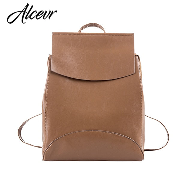 ALCEVR Fashion Women Backpack High Quality Youth Leather Backpacks for Teenage Girls Female School Shoulder Bag Bagpack mochila-geekbuyig