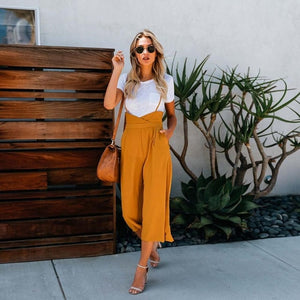 2018 New style Fashion Summer women Straight trousers Sweet Mid Broadcloth green yellow Regular Ankle-Length Pants-geekbuyig