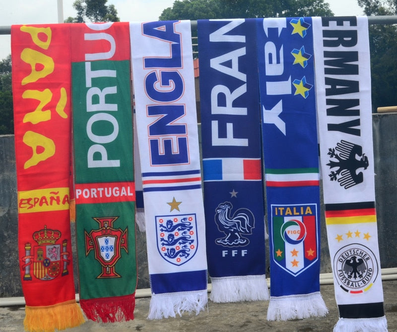 2018 football Cup Scarf Germany Brazil Spain Portugal Argentina France Football Fan Gifts Cheerleading Decoration Mixed-geekbuyig