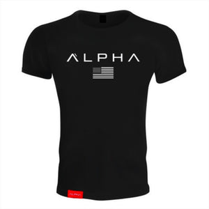 Men Fashion Casual t shirt Gyms Fitness Bodybuilding T-shirts Male Short sleeves Slim fit Cotton Printed Tee Tops Brand Clothing-geekbuyig