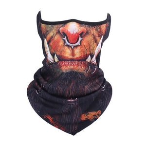 3D Animal Neck Warmer Gaiter Scarf Face Mask Windproof Bicycle Winter Snowboard Halloween Cat Dog Hats Bandana Tube Headband-geekbuyig