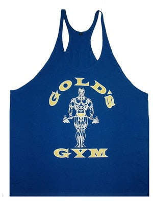 2018 Hot gyms vest bodybuilding clothing and fitness men tank tops golds brand high quality cotton undershirt European size-geekbuyig