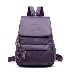 LANYIBAIGE 2018 Women Backpack Designer high quality Leather Women Bag Fashion School Bags Large Capacity Backpacks Travel Bags-geekbuyig