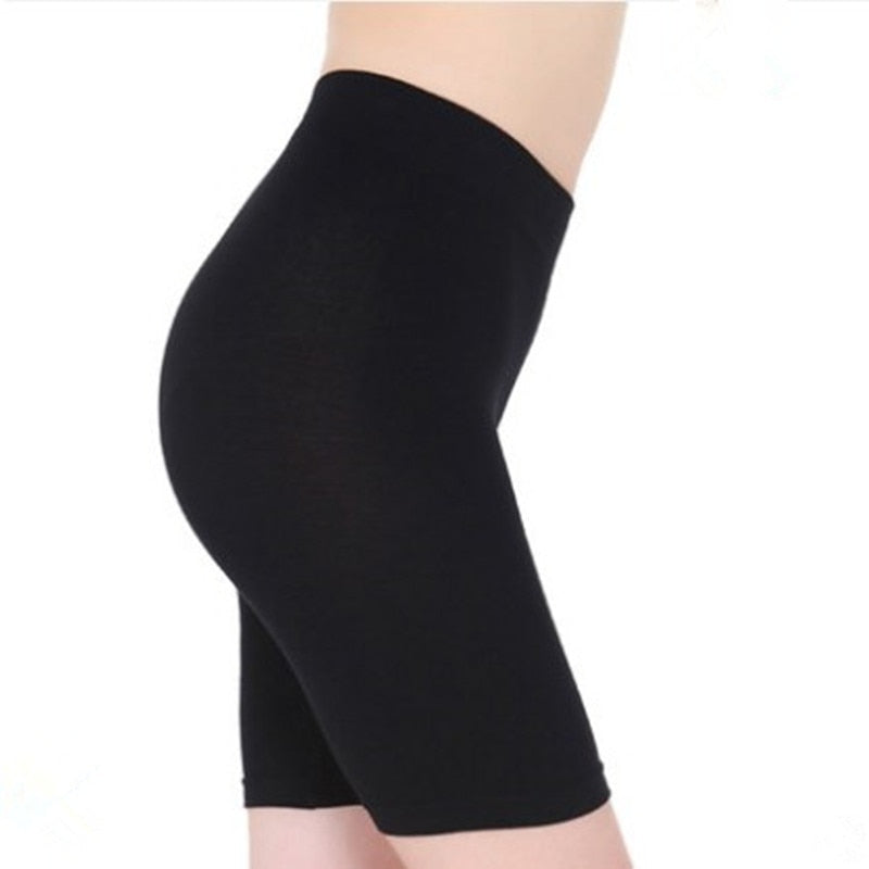 S-3XL Hot Salel Ladies Knee-Length Short Leggings Under Skirts, Comfortable Lightweight Bamboo Underpants for Summer-geekbuyig