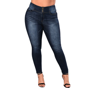 Romacci Women 5XL Plus Size Jeans Feminino Casual Push Up Denim Jeans Strech High Waist Skinny Pants Slim Fit Bodycon Trousers-geekbuyig