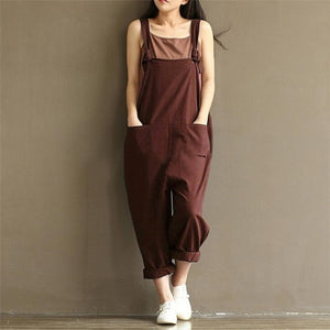 women's Summer Sexy jumpsuites Strap Belt Bib Pants Trousers Casual Overall Pants sexy romper dropship x3054-geekbuyig