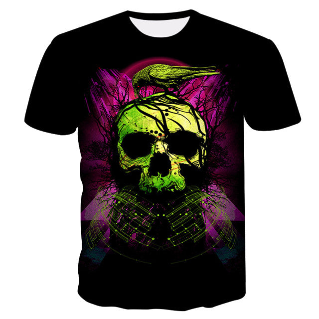 New Summer Style 3d t-shirt Skull HD Print t shirt Men Women Harajuku Short Sleeve Tees Fashion Clothing S-4XL-geekbuyig