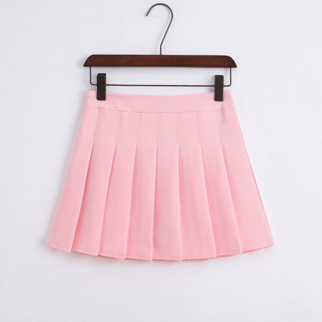 2018 New Arrival Young Pleated High Waist Mini Skirts Summer Sweet South Korean Student Skirt Japanese school uniform Hot sales-geekbuyig