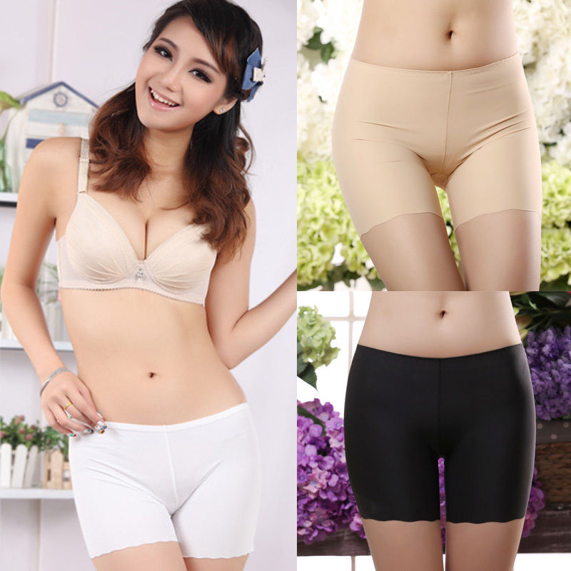 1 Pcs New Sexy Women Comfortable Safety Short Invisible Seamless Pants Leggings boxer Briefs Pants Underwear-geekbuyig