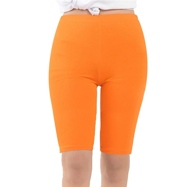 AZUE Women's Modal Short Leggings Basic Leggings Smooth High Elasticity Plus Size Knee Length Korte Leggings For Women-geekbuyig