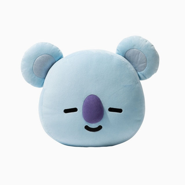 2018 New ARMY BTS Kpop Bangtan Boys Bt21 Kawaii Pillow Plush Warm Bolster Q Back Doll TATA VAN COOKY CHIMMY SHOOKY-geekbuyig