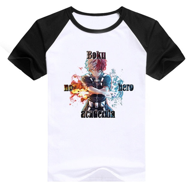 Newest Boku No Hero Academia Cosplay T Shirts Man Clothing Funny Cartoon My Hero Academia Print Japanese Anime T-shirt Male-geekbuyig