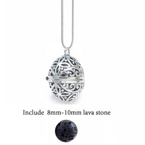 Diversified Felt Glow Balls Lava Stone Aromatherapy Antique Vintage Necklaces Locket Perfume Essential Oil Diffuser Necklace-geekbuyig
