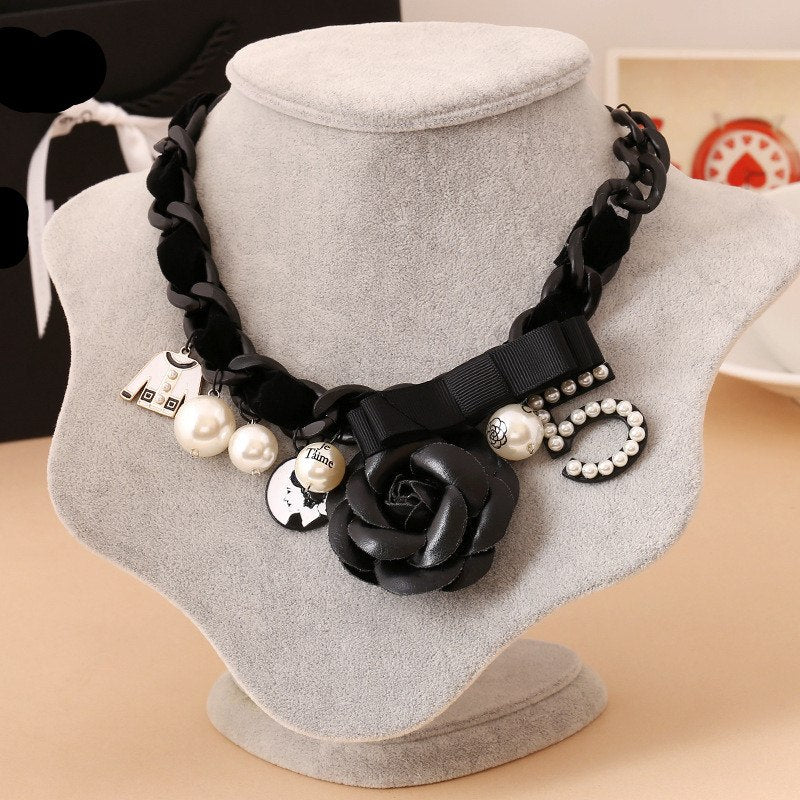 N53 Camellia flower Max Vintage neckless Luxury Brand Colar Feminino Jewlery Collier Femme Chokers Necklace 2018 New For Women-geekbuyig