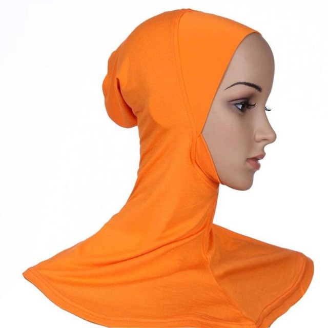 Hijab Headwear Full Cover Underscarf Ninja Inner Neck Chest Plain Hat Cap Scarf Bonnet 21 Colors S4-geekbuyig