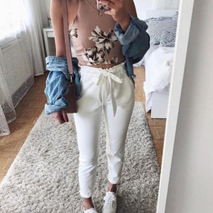 2018 fashion winter autumn women suede pants style ladies Leather bottoms female trouser Casual pencil pants high waist trousers-geekbuyig