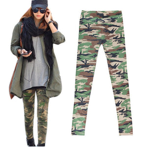 2016 Newest Women Camouflage Army Print Stretch Cool Sexy Pants Skinny Leggings Trousers-geekbuyig