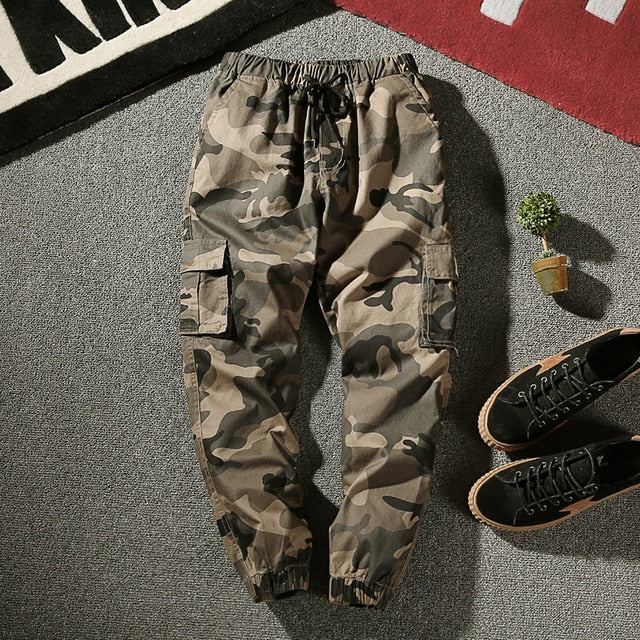 M-4XL 2017 Autumn Pencil Harem Pants Men Camouflage Military Pants Loose Comfortable Trousers Personality Male Plus Size-geekbuyig