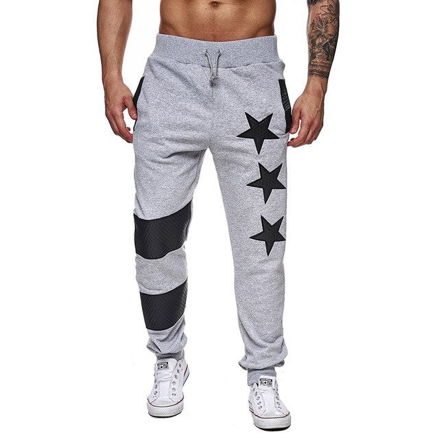 2018 new design mens joggers stars stripes patchwork male trousers fashion hip hop tracksuit sweatpants brand clothing-geekbuyig