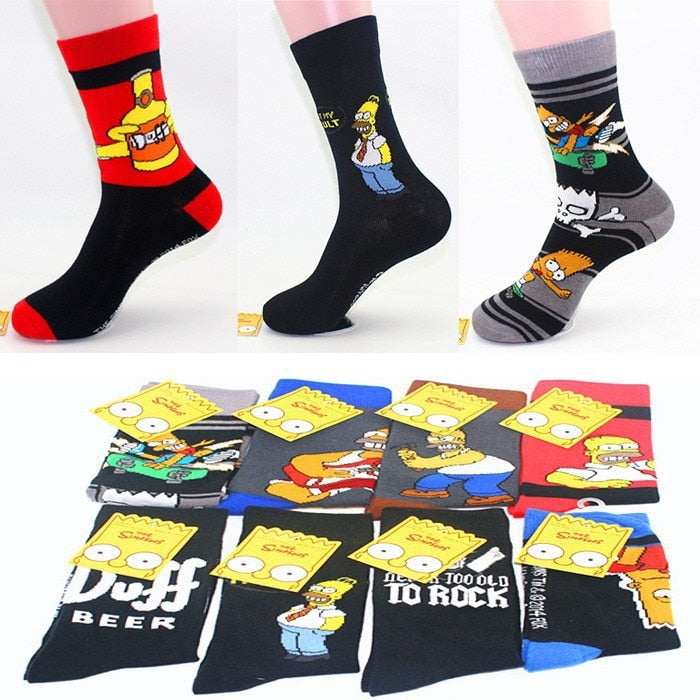 Special Offer Super Fashion Cartoon Cotton Socks Individuality Men Export Brand Socks Fashion Cartoon Socks for Man-geekbuyig