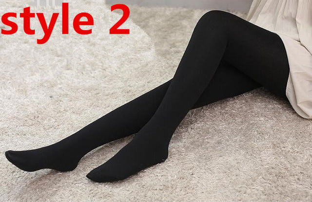 2018 fashion Lowest price High quality women warm velvet leggings pants Spring autumn and winter Knitted skinny slim leggings-geekbuyig