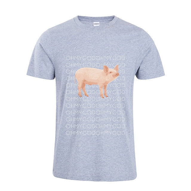 2018 Shane Dawson Oh My God Pig T-Shirt Funny Pig Graphic Tee Shirt Casual T Shirt For Men/Women-geekbuyig