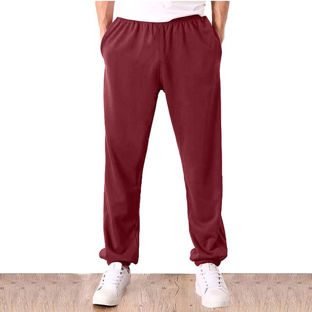 Men Plus Size 7XL Pants Solid Baggy Loose Elastic Pants Pencil Sweatpants Casual Pants Men's Trousers Joggers Large Big 5XL 6XL-geekbuyig