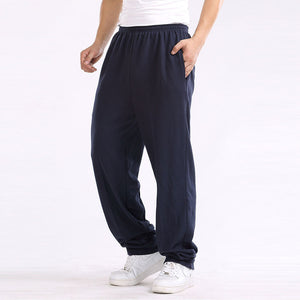 Men's Baggy Pants Trousers Solid Color Slim Fitted Sweatpants Elastic Casual Pants Homme Extra Plus Size 4XL 5XL 6XL 7XL Joggers-geekbuyig