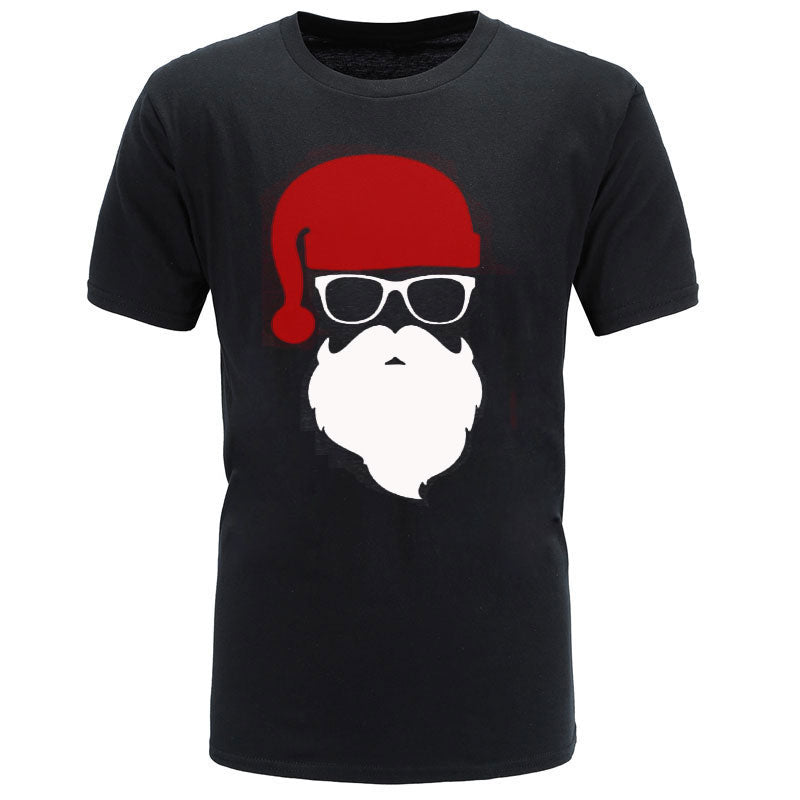 HOT!2018 summer brand Santa Father Christmas Festive Custom Funny T Shirt Men Cotton Short Sleeve T-shirt homme Top Tees-geekbuyig