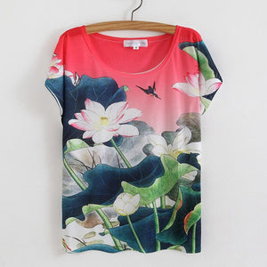 Plus Size O-Neck Print T Shirt Mujer Blusas Kawaii Camisa Tshirt Casual Tops Women T-shirt Plus Size-geekbuyig