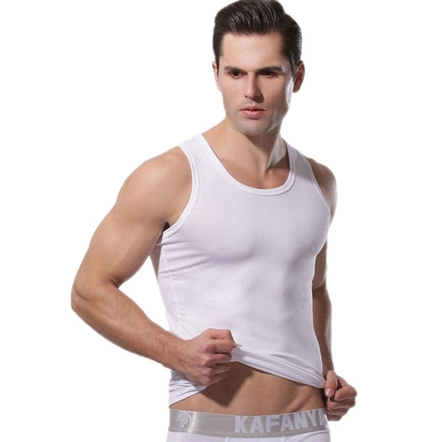 Summer Men Clothing Tank Tops Man Undershirts Casual Fitness Bodybuilding Vest Tops sous vetement homme HO861414-geekbuyig