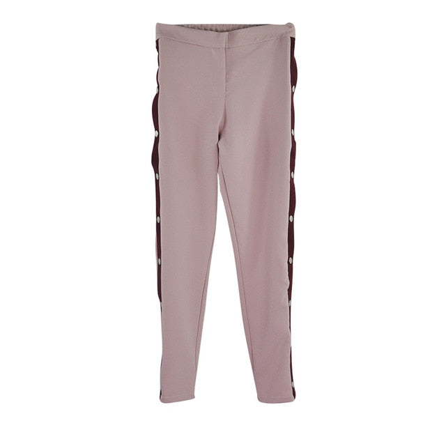 Tapakva Split Wide-leg Pants Side Button Up Trousers Loose Casual Pants Wide Leg Track Suit Pants-geekbuyig