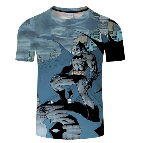 New Fashion Superman Batman 3D T Shirt Summer Style Men Short Sleeve Casual T-shirt Superhero Top Tees Asian size Tshirt s-6xl-geekbuyig