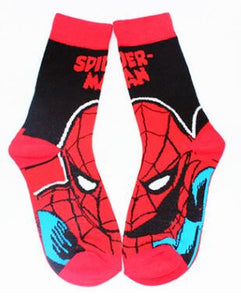 Classic Marvel Spiderman Cartoon cosplay Green Lantern The Incredible Hulk fashion personality chaussettes homme fantaisie meias-geekbuyig