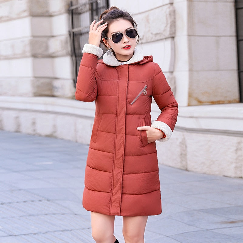 2018 New Parkas Female Women Winter Coat Thickening Cotton Winter Jacket Womens Outwear Parkas for Women Winter Long Hooded-geekbuyig