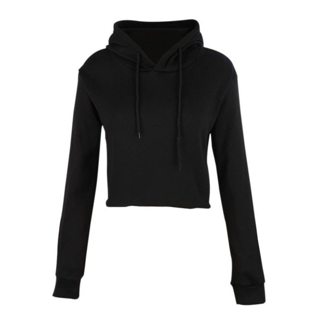 Teen Girls Cute Cat Ear Breathable Trim Sweatshirt Crop Top Long Sleeve Pullover Hoodies-geekbuyig