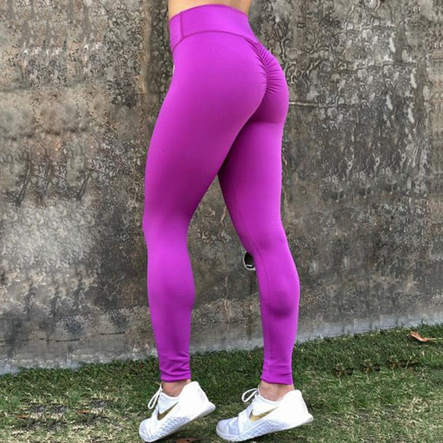 Women Push Up Leggings High Waist Classic Trousers Female Fitness Clothing Solid Breathable Workout Leggings 6 Color Plus Size-geekbuyig