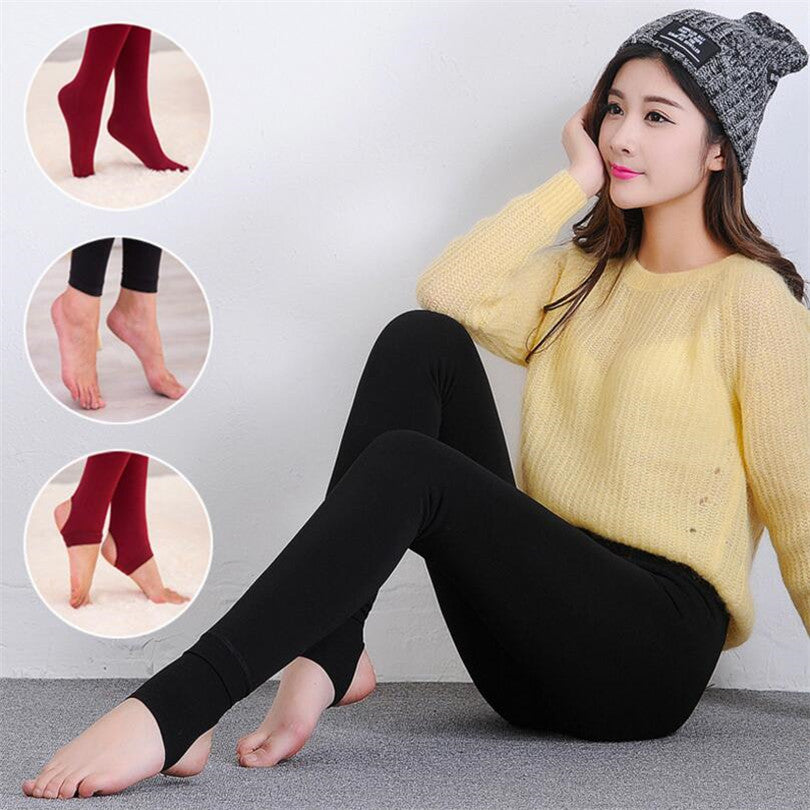 VISNXGI Ladies Leggings Woman Girls Casual Warm Winter Faux Velvet Knitted Thick Slim Leggings Super Elastic Leggins Women Pants-geekbuyig