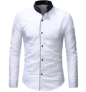2018 autumn New Hot sale Men's Shirts Fashion Brand Slim fit Solid color Shirt Male Long Sleeves Casual Shirt Camisa Masculina-geekbuyig