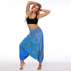Harem Pants Bohemian Boho Womens Clothing Loose Pants Print Women Clothes Vintage Trousers Women-geekbuyig