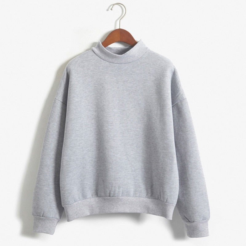 Women Tops Hoodies Casual Sweatshirt Pullover Candy Coat Jacket Outwear O-Neck Solid Tops HOT Sale-geekbuyig