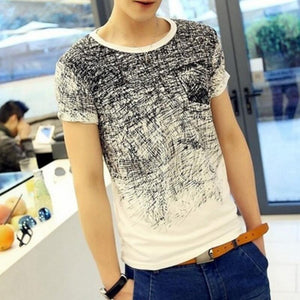 Summer Man's T-shirt Cotton Short Sleeve Clothing Tee Shirt Camisetas Mens masculina Male T shirt Blusa-geekbuyig