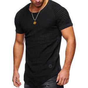 Laame Men's T Shirt 2018 Summer Fashion Hooded Sling Short-Sleeve Tee Male T-Shirt Slim Male Tops Camisa Masculina Plus Size 3XL-geekbuyig