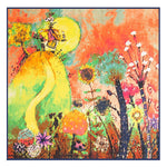 [POBING]100*100cm Twill Silk Scarf New Design Abstract Painting Square Scarves And Wraps Euro Style Shawl Office Lady Foulard-geekbuyig